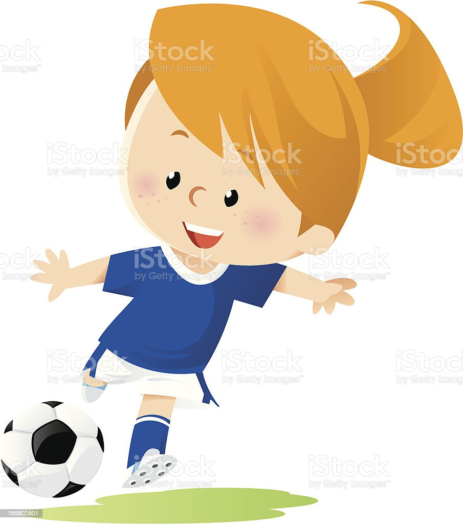 royalty free girls soccer clip art vector images illustrations rh istockphoto com soccer girl player clipart female soccer clipart