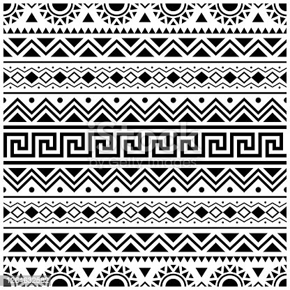 istock Stripe Ethnic Aztec Pattern design. Tribal ethnic seamless pattern 1264632582