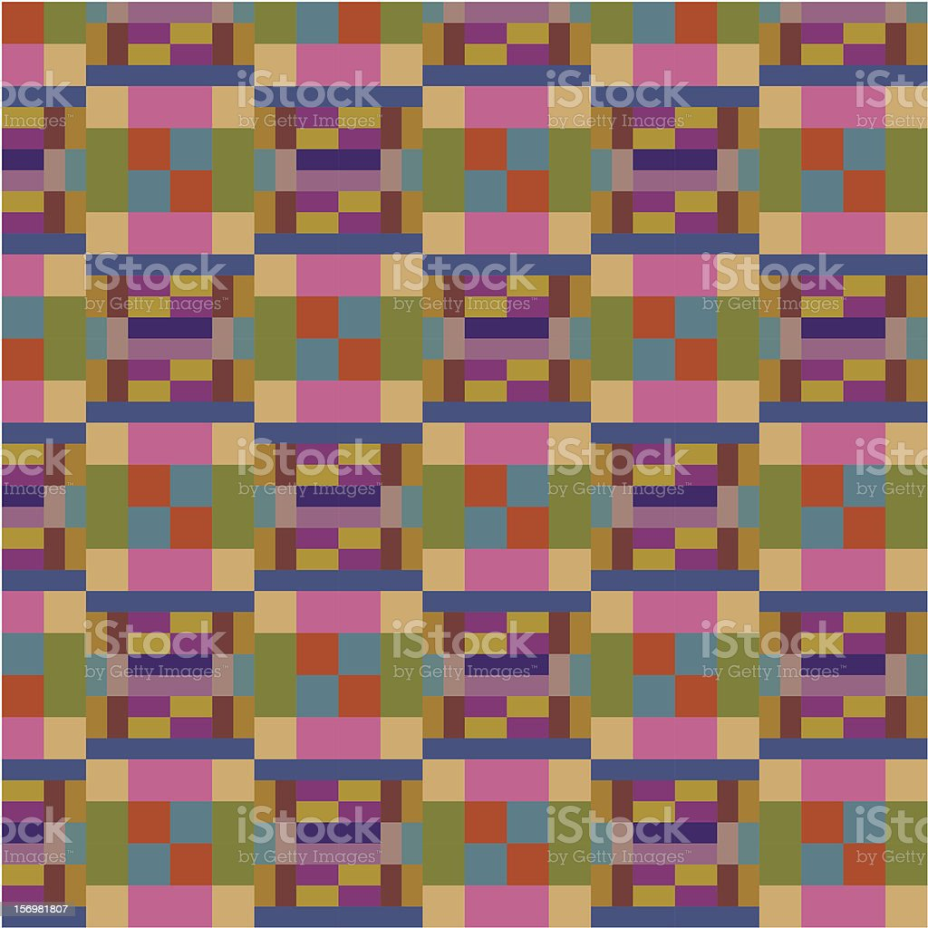 Striped and checkered pattern royalty-free stock vector art