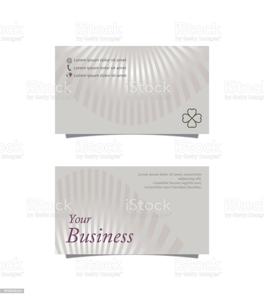 striped business card stock vector art more images of abstract