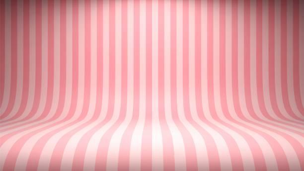 ilustraciones, imágenes clip art, dibujos animados e iconos de stock de telón de fondo de estudio rosa caramelo de rayas - postre