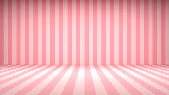 Striped candy pink studio backdrop