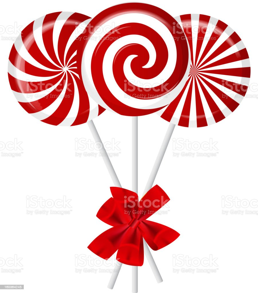 Striped candy vector illustration royalty-free stock vector art