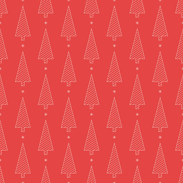 striped christmas tree silhouette pattern of outlines. - rankgitter stock-grafiken, -clipart, -cartoons und -symbole