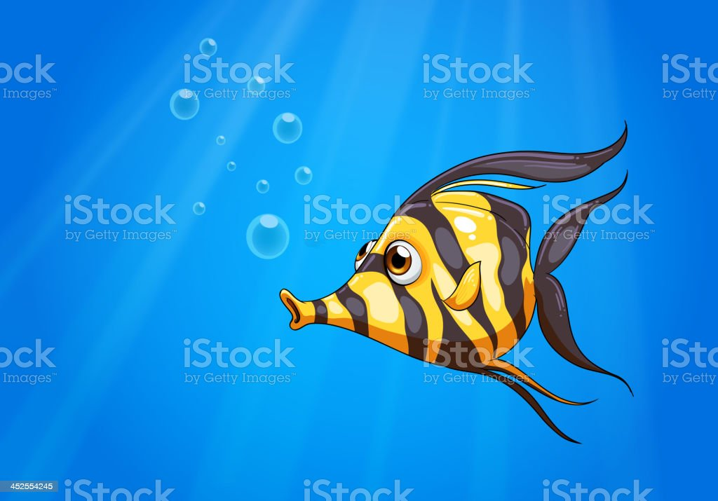 striped colored fish under the sea royalty-free striped colored fish under the sea stock vector art & more images of animal