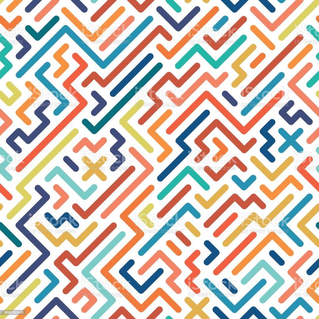 Striped colorful seamless geometric pattern.