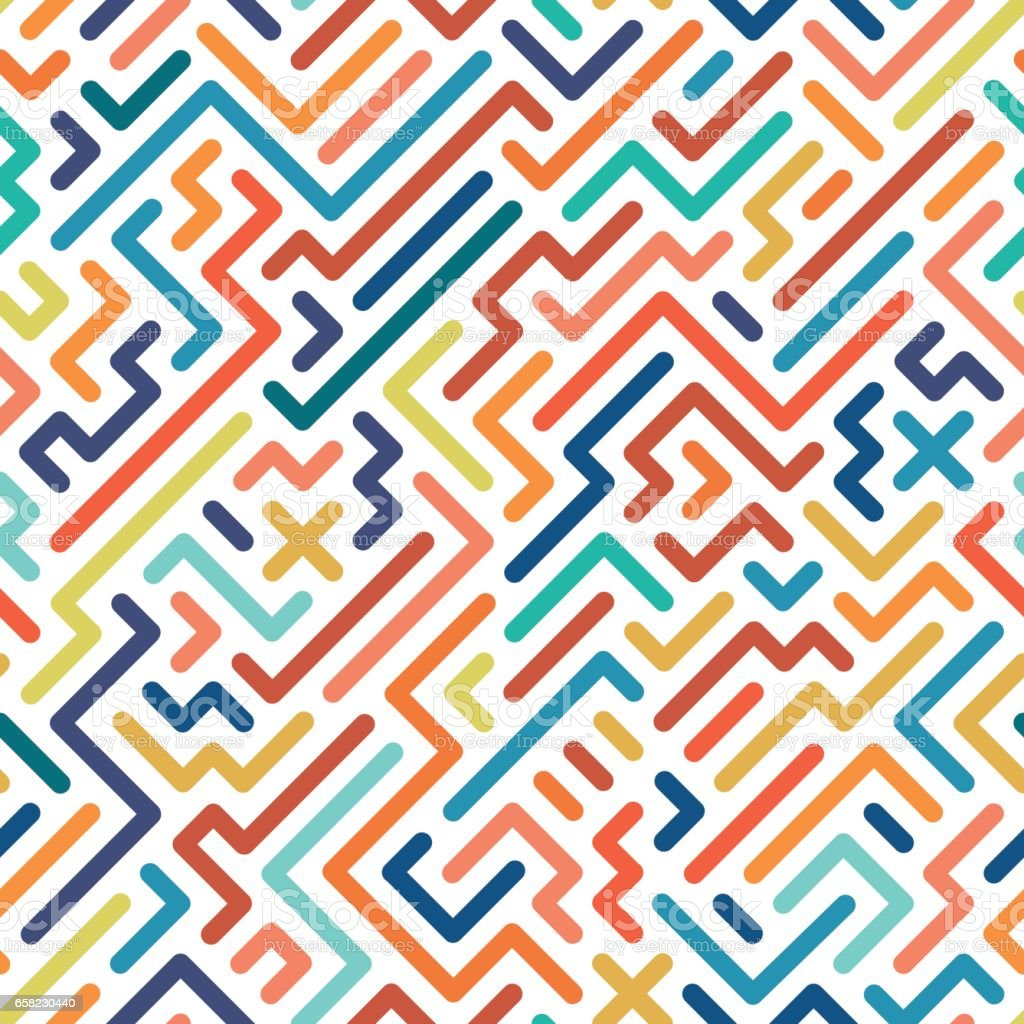 Striped colorful seamless geometric pattern. vector art illustration