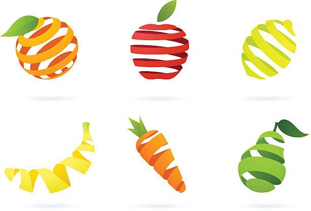 Gestreifte Obst – Vektorgrafik
