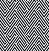 seamless monochrome striped geometric pattern