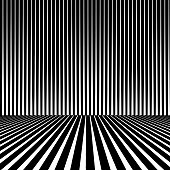 Striped Halftone Pattern With Dynamic Perspective. Clear background.