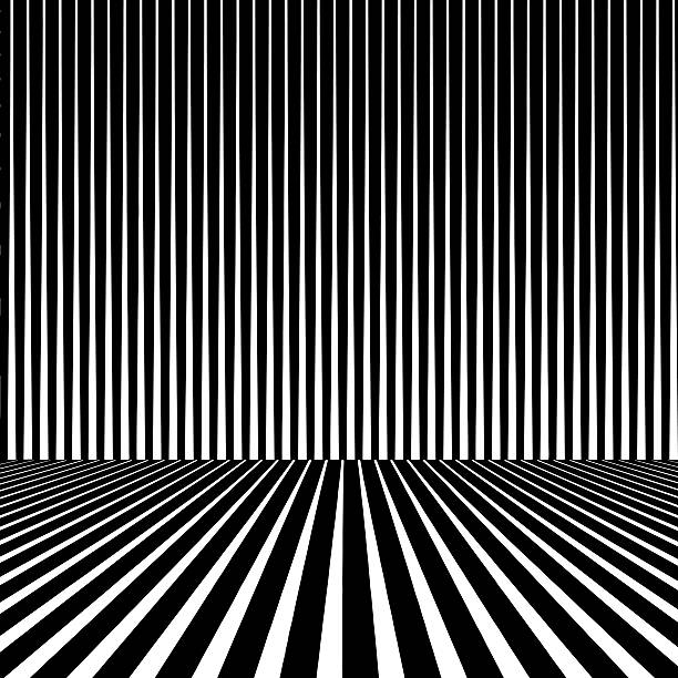 Striped Halftone Pattern With Dynamic Perspective Striped Halftone Pattern With Dynamic Perspective. Clear background. diminishing perspective stock illustrations