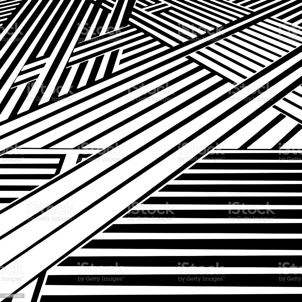 Striped Halftone Pattern with Perspective, Suggesting Cyberspace vector art illustration