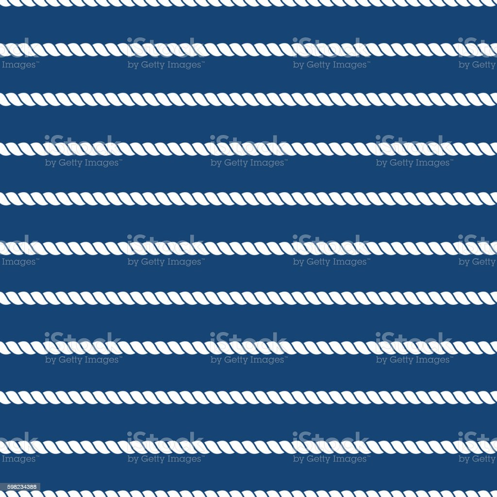 Striped nautical ropes bright seamless background ilustração de striped nautical ropes bright seamless background e mais banco de imagens de abstrato royalty-free