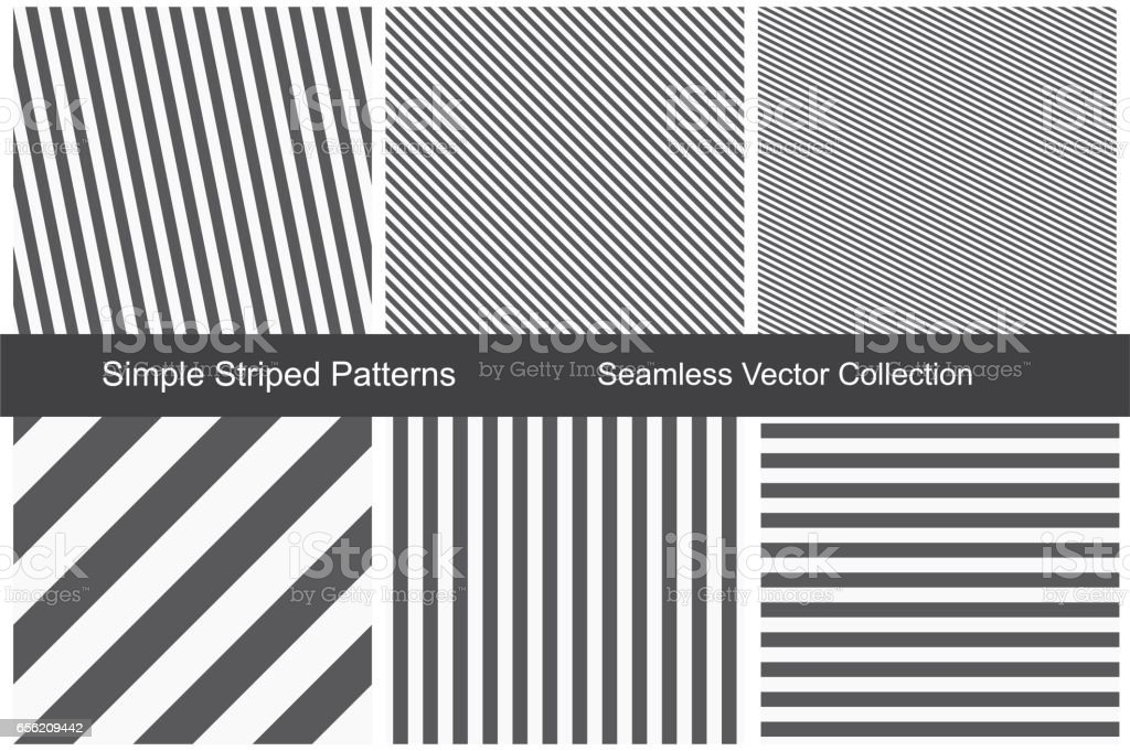 Striped patterns. Seamless vector collection. vector art illustration