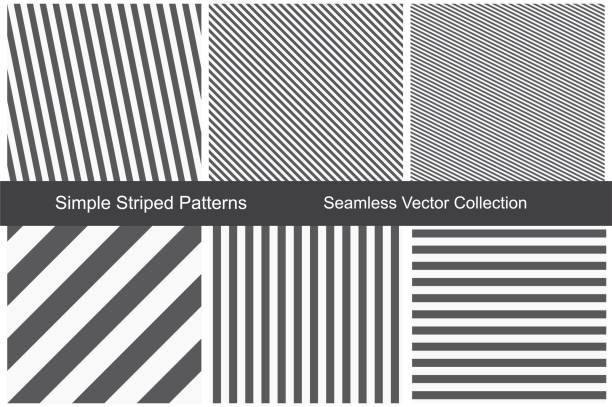 striped patterns. seamless vector collection. - pasiasty stock illustrations