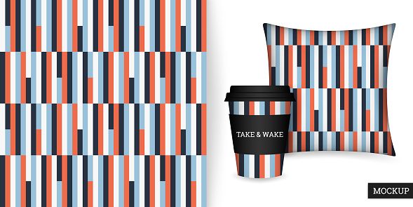Striped seamless pattern. Abstract background elegant colorful lines. Vector illustration vertical stripes. Repeating texture.