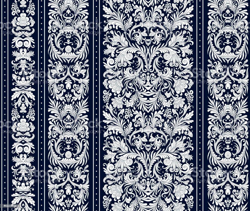 rayures sans soudure sur le style baroque seamless floral. Black Bedroom Furniture Sets. Home Design Ideas