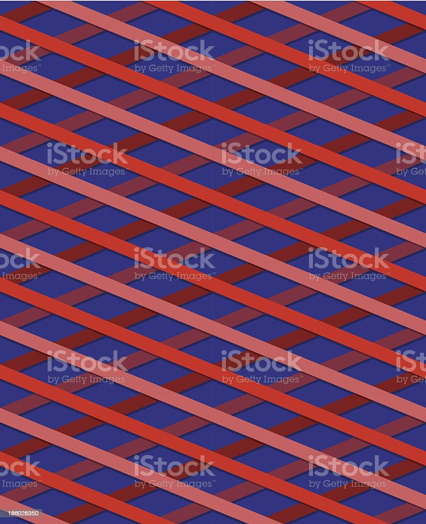 Striped seamless pattern, red and pink royalty-free stock vector art