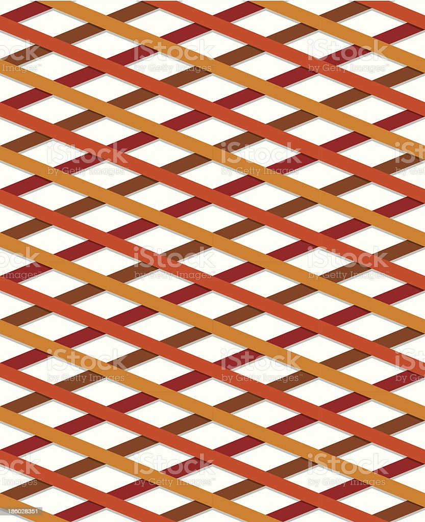 Striped seamless pattern, yellow and red royalty-free stock vector art