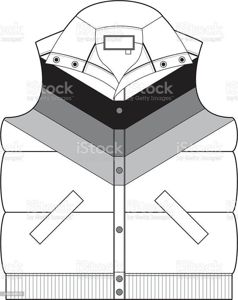 Striped Sleeveless Gilet Jacket royalty-free stock vector art