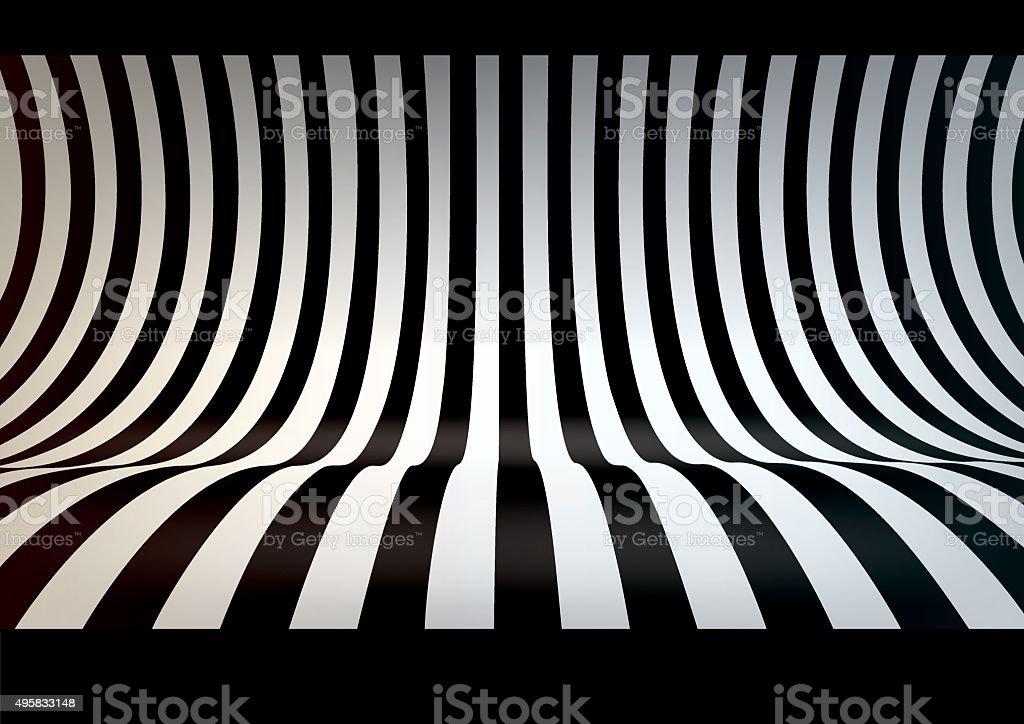Striped studio backdrop