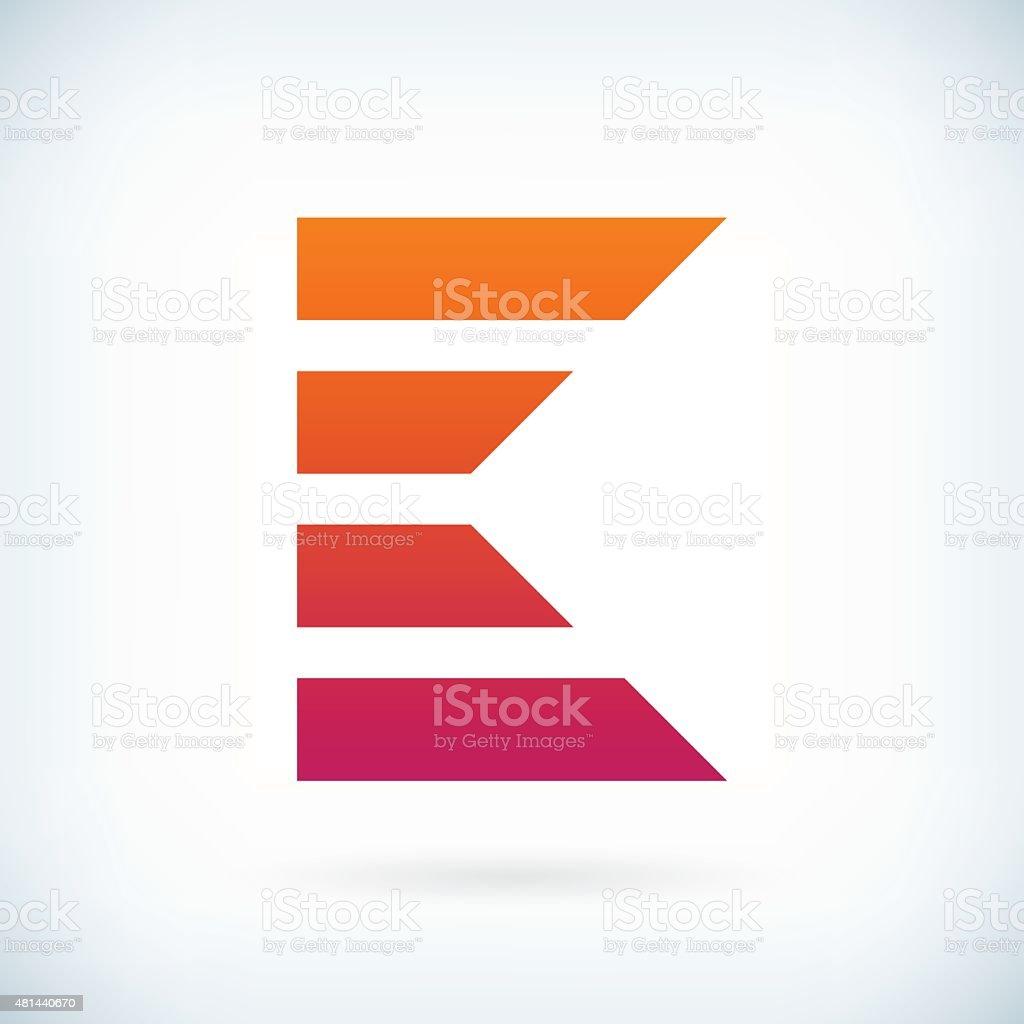 stripes letter K icon design element template vector art illustration