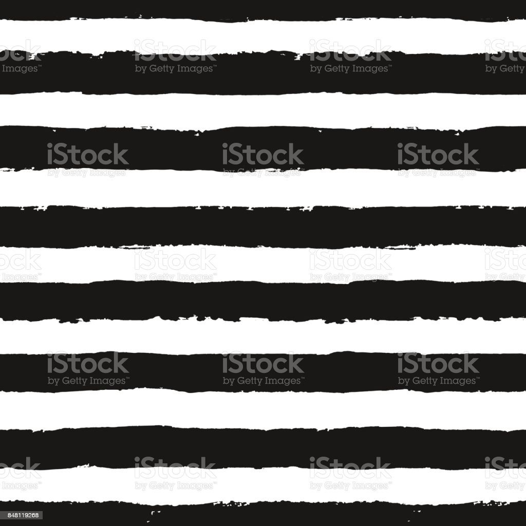 Stripes Pattern from Brush Strokes vector art illustration