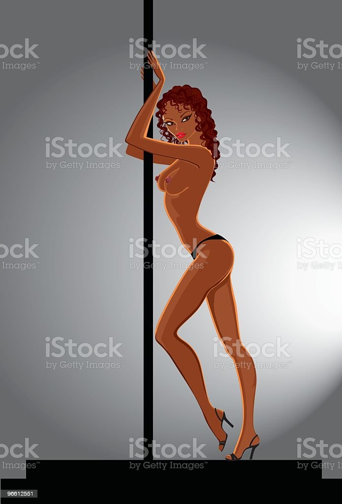 striptease dancer - Royalty-free Adult stock vector