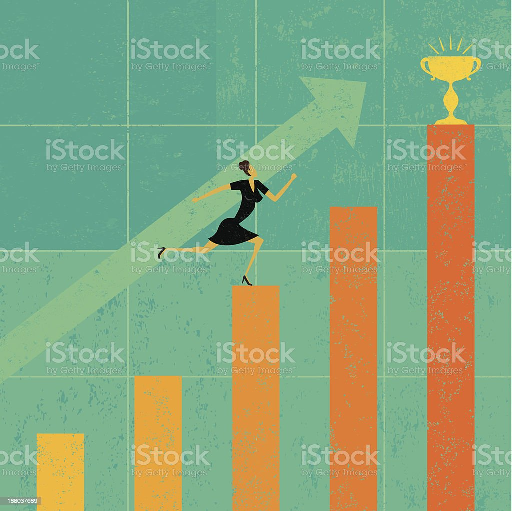 Striving for a profit goal royalty-free stock vector art