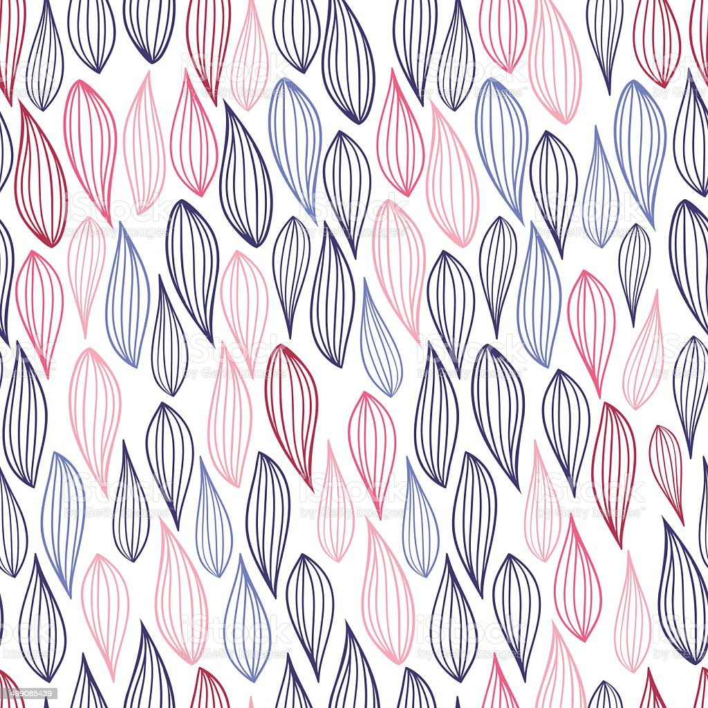 Stroke leaf pattern vector art illustration