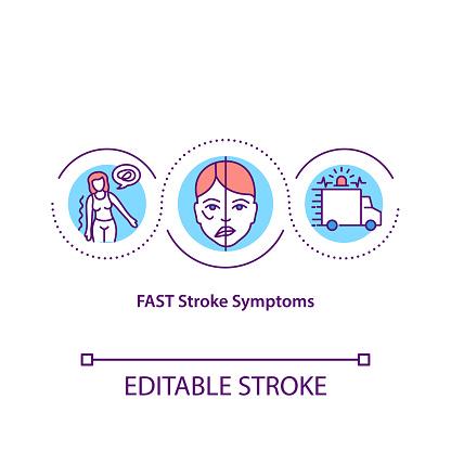 FAST stroke symptoms concept icon