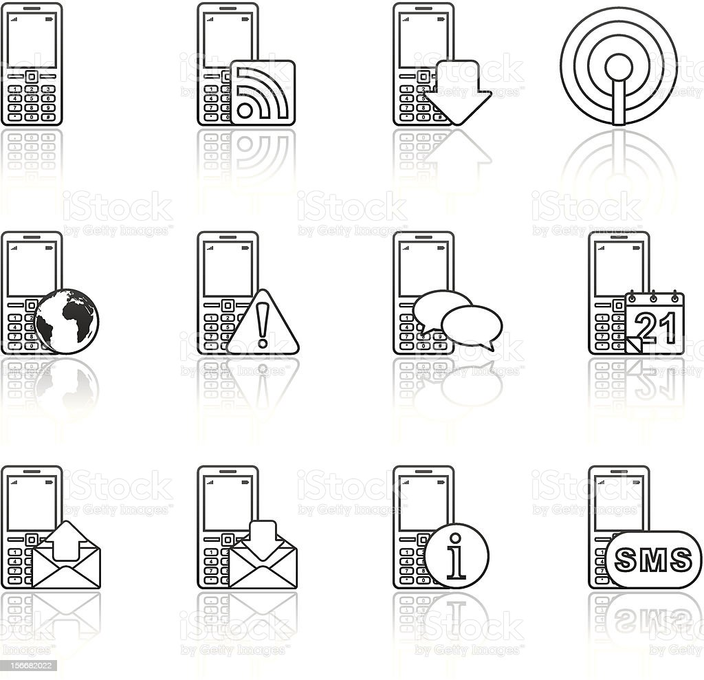 Strokes Series - Communication (set 6) royalty-free strokes series communication stock vector art & more images of abstract