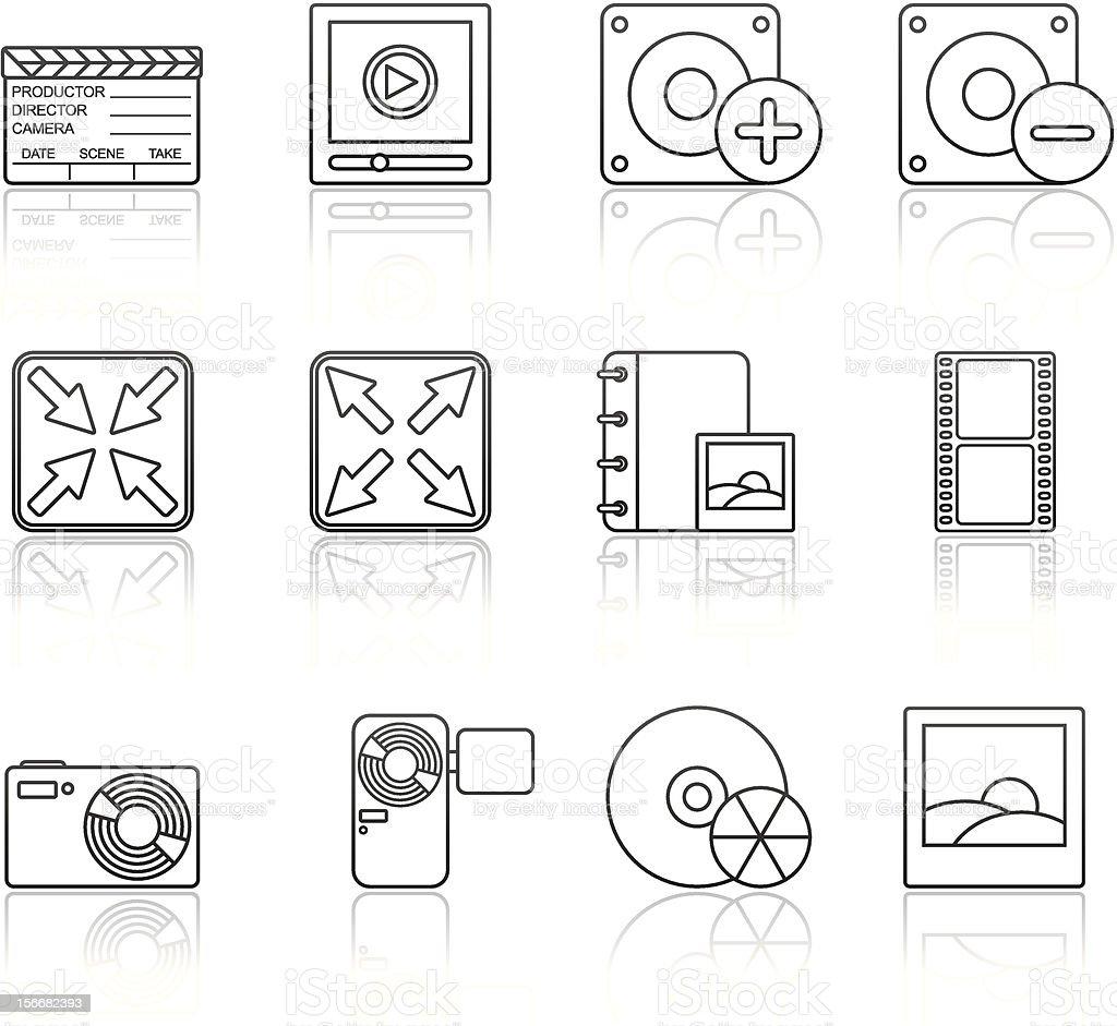Strokes Series - Multimedia (set 5) royalty-free stock vector art