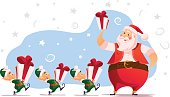 strokesVector flat merry christmas and happy new year illustration