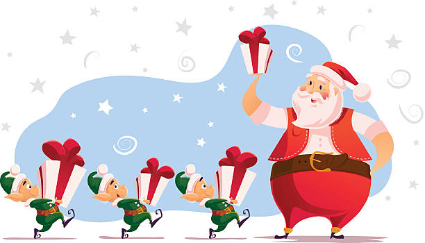strokesvector flat merry christmas and happy new year illustration vector art illustration