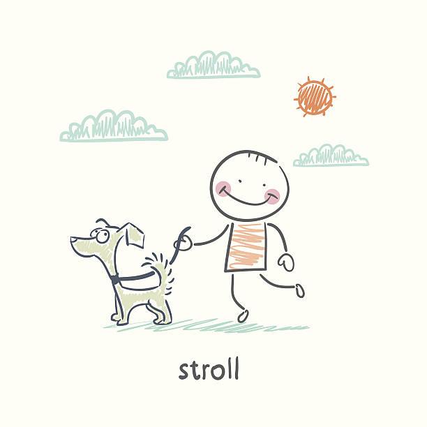 stroll vector art illustration