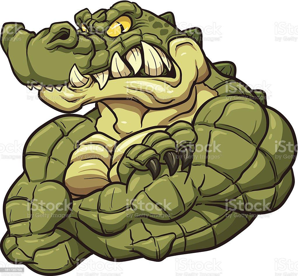 Strong alligator mascot royalty-free stock vector art