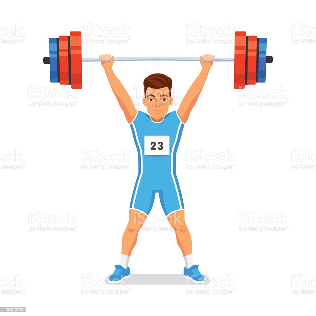 royalty free olympic weightlifting clip art vector images rh istockphoto com olympic weightlifting clipart animated weightlifting clipart