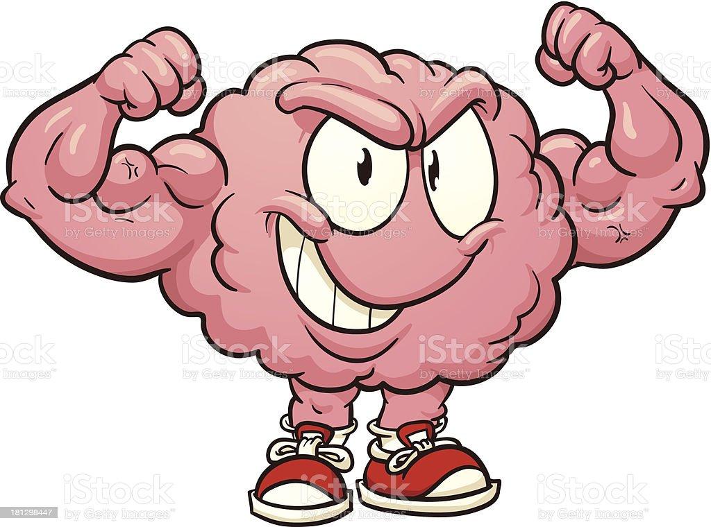 Strong brain royalty-free stock vector art