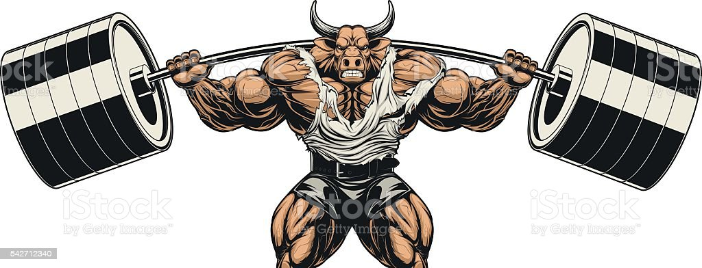 Strong bull vector art illustration