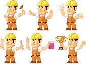 Strong Construction Worker Mascot 3
