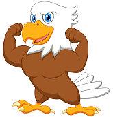 Strong eagle cartoon