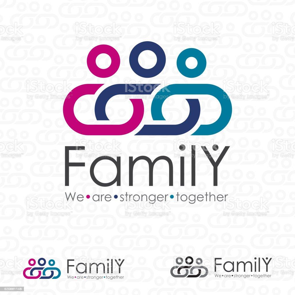 Strong Family Logo vektör sanat illüstrasyonu