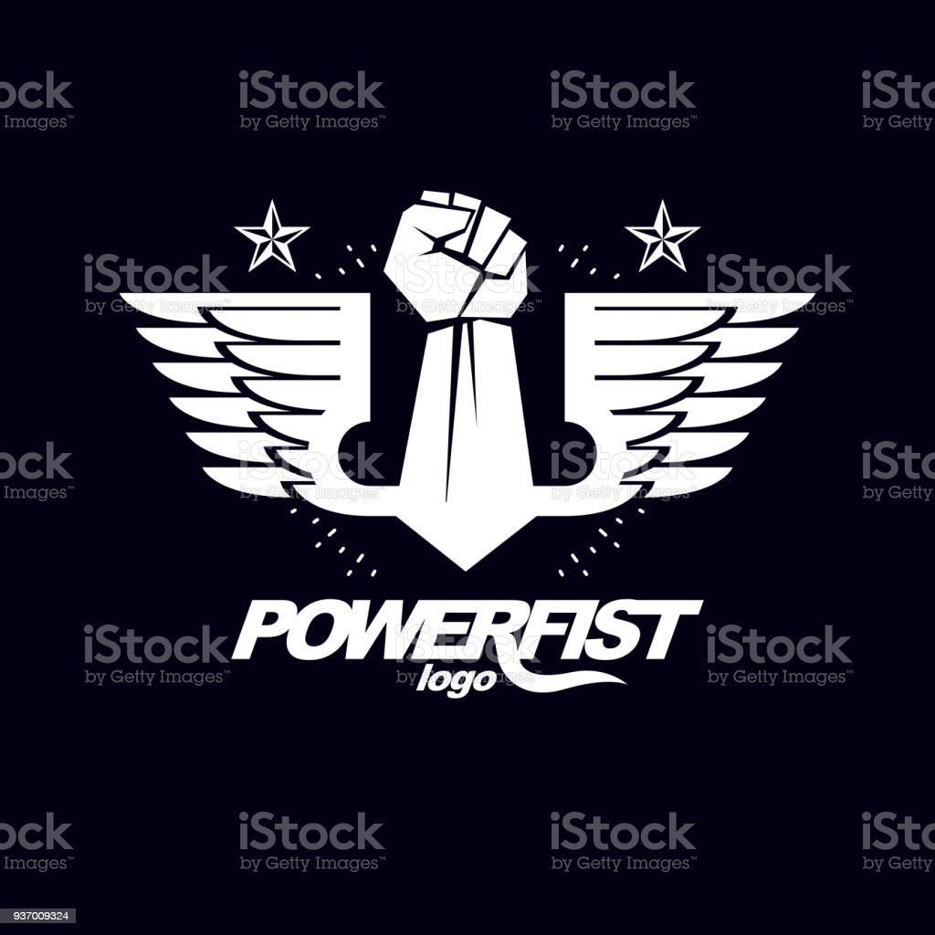 Strong Fist Of A Muscular Man Vector Illustration Best Fighter