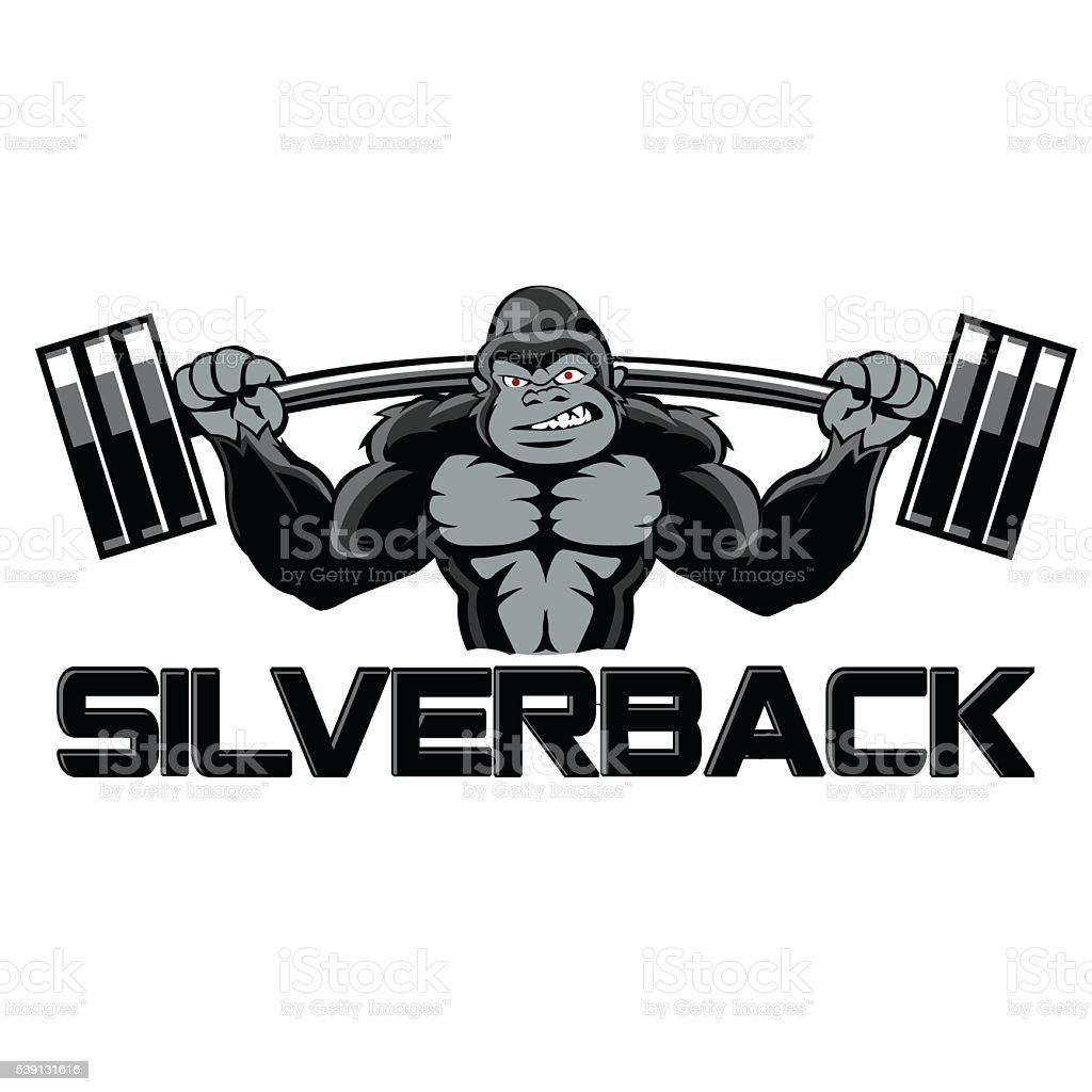 Strong gorilla cartoon vector art illustration