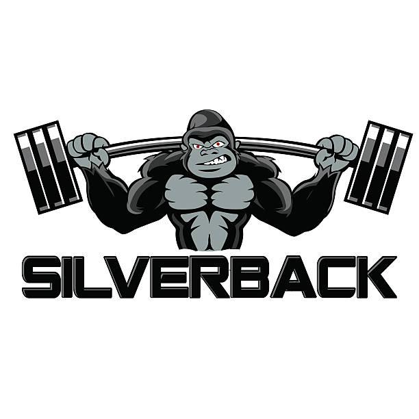 starke gorilla comic - gorilla stock-grafiken, -clipart, -cartoons und -symbole