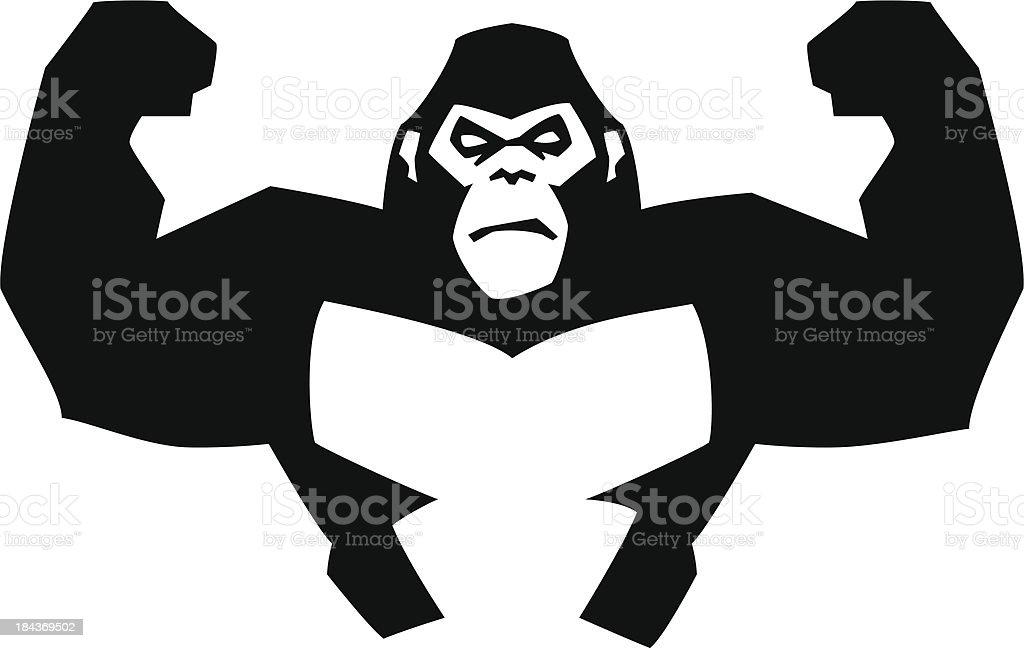 Gorila FUERTE - ilustración de arte vectorial
