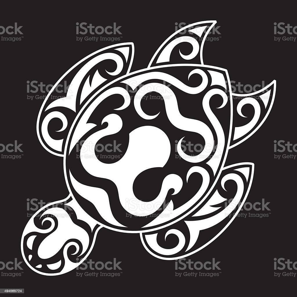 Strong icon design Tribal Sea Turtle