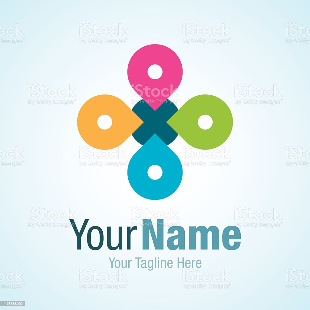 Strong idea changing partnership graphic design logo icon vector art illustration