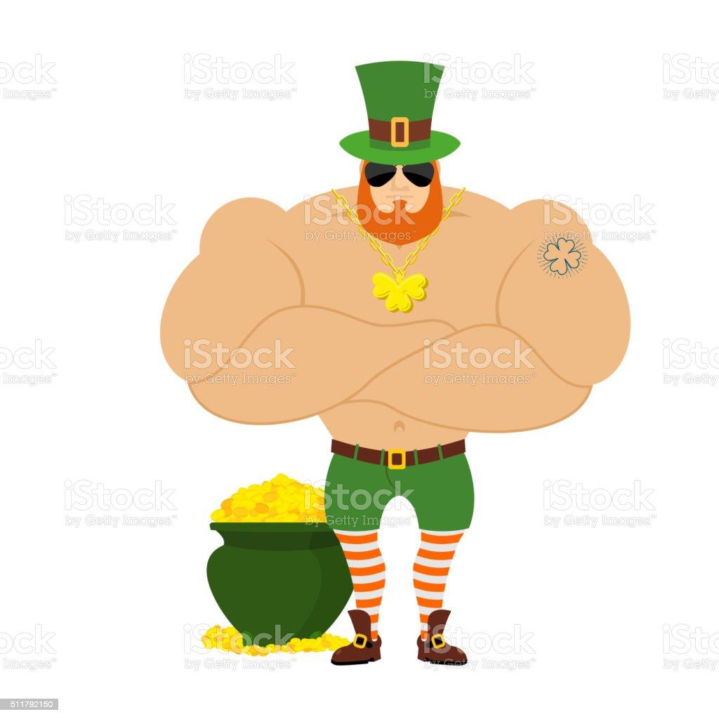 royalty free muscular leprechaun clip art vector images rh istockphoto com leprechaun clipart png clip art leprechaun thinking